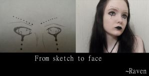 From sketch to face 1 by GothicRavenMidnight