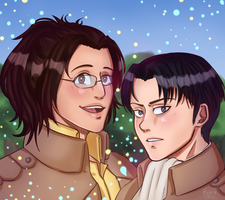 going titan hunting! [ levihan ] by oh-no-Castiel