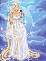 Princess Serenity Gown Redesign by Delight046