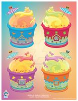 Kawaii Italian Ice Quartet by KawaiiUniverseStudio