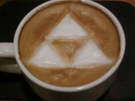 Triforce Latte 2.0 by MonkDrew