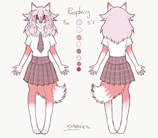 Raspberry Character Reference by sumairusama