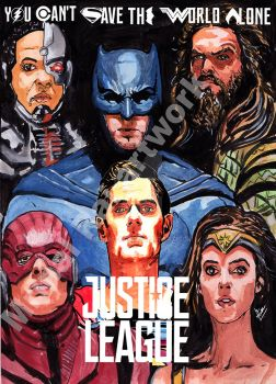 Justice League poster v2 by mrinal-rai