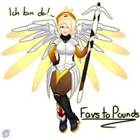 Favs to Pounds! Mercy (1/4) by Gilaena