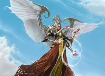 Wispweaver Angel for MtG Kaladesh by namesjames