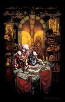 Demon and the Scribe, Color by SteveChanks