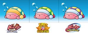 Sleep Kirby - 3 Variations by ShadowLifeman