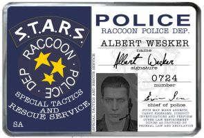 S.T.A.R.S. card by WeskerAlbert