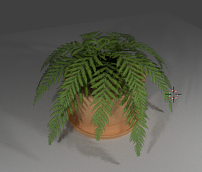 Plant in a pot by MediumiX