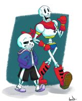 Skelebros - Undertale by HiSamHere