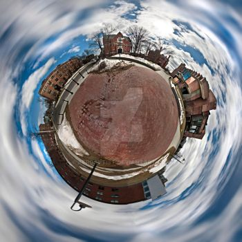 Tiny Planet - Woodland Street by aeroartist
