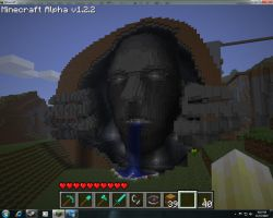 Giant face greyman by chickenmobile