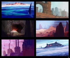 15 minute environments by Trudsss