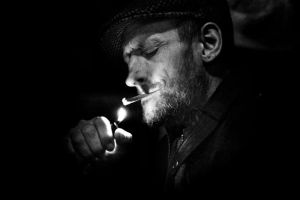 man and cigarette by themayfly