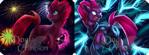 Tempest and Fizzlepop by Dogi-Crimson
