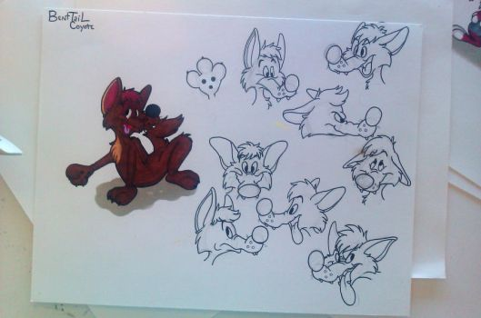 BentTail - Character Sheet WIP by FossilizedToons