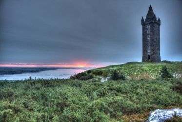 Sunrise at Scrabo Tower by rosscaughers