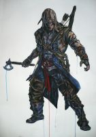 Connor Kenway by ThePotatoStabber
