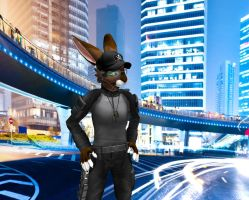 security bunny in the city by timberfox15