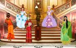 Princesses on parade by MelaClara