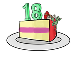 Happy 18th birthday DeviantArt! by TurquoiseThought