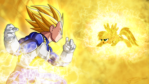 Vegeta vs. Rainbow Dash by Jamey4
