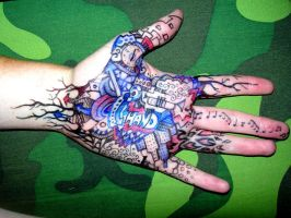 Doodle Hand by Simonbagel