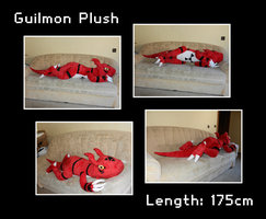Guilmon Plush by Starfighter-Suicune