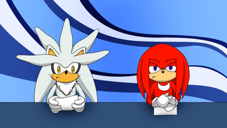Knuckles and Silver News by TheSnowDrifter