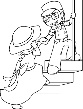 Train Conductor John and Rose by SnapdragonSoda