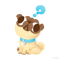 Question Pug by Versiris