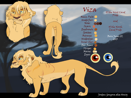 Viza's New Ref Sheet by Howikin