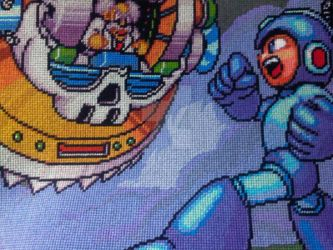 Mega Man 7 Cross Stitch by Karma-Pudding