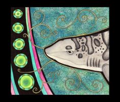Young Leopard Shark as Totem by Ravenari