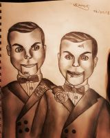 slappy and his evil twin, snappy  by Chucky-Lover20