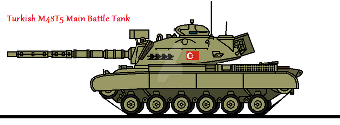 Turkish M48T5 Main Battle Tank by thesketchydude13