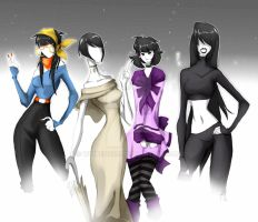 SLENDER LADYS by WhiteFox89