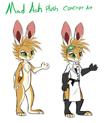 Mad Ash Plush Concept Art by Skeleion