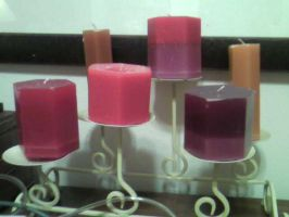 Many candles that I made by TinyBunny