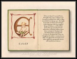 E is for Elf by WildWoodArtsCo
