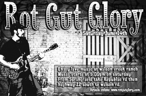 Rot Gut Glory Flyer by 20after4