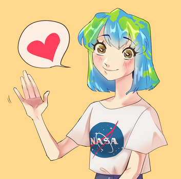EARTH-CHAN by Merengeee