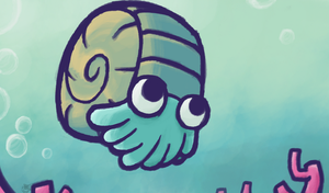 Omanyte Card Art (WiP) by Concore