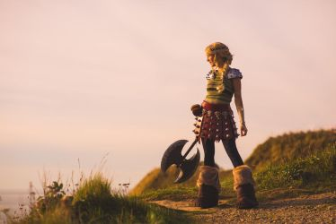 Astrid ready for battle by NatIvy