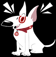 Bullseye the Target Dog by EeyorbStudios