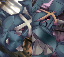 Day 469 - Metagross and Mega Metagross by AutobotTesla