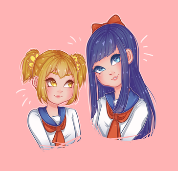 Popuko and Pipimi by binnybun