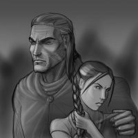 Lan and Nynaeve by mandersen