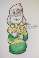 Asriel Doodle by PikachuYoshiPines164