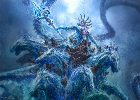 God of War III- Poseidon 02 by andyparkart